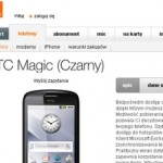 HTC Magic w Orange - cena