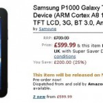 Samsung Galaxy Tab w Amazon UK