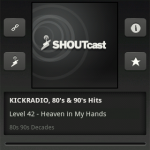 Winamp for Android - SHOUTcast